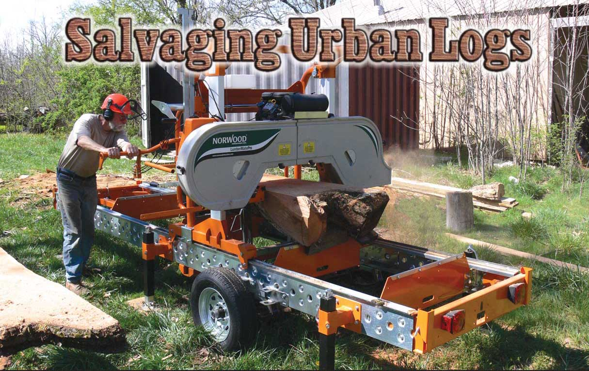 Used Sawmills For Sale >> Portable Sawmills Used To Salvage Urban Logs And Generate Lost