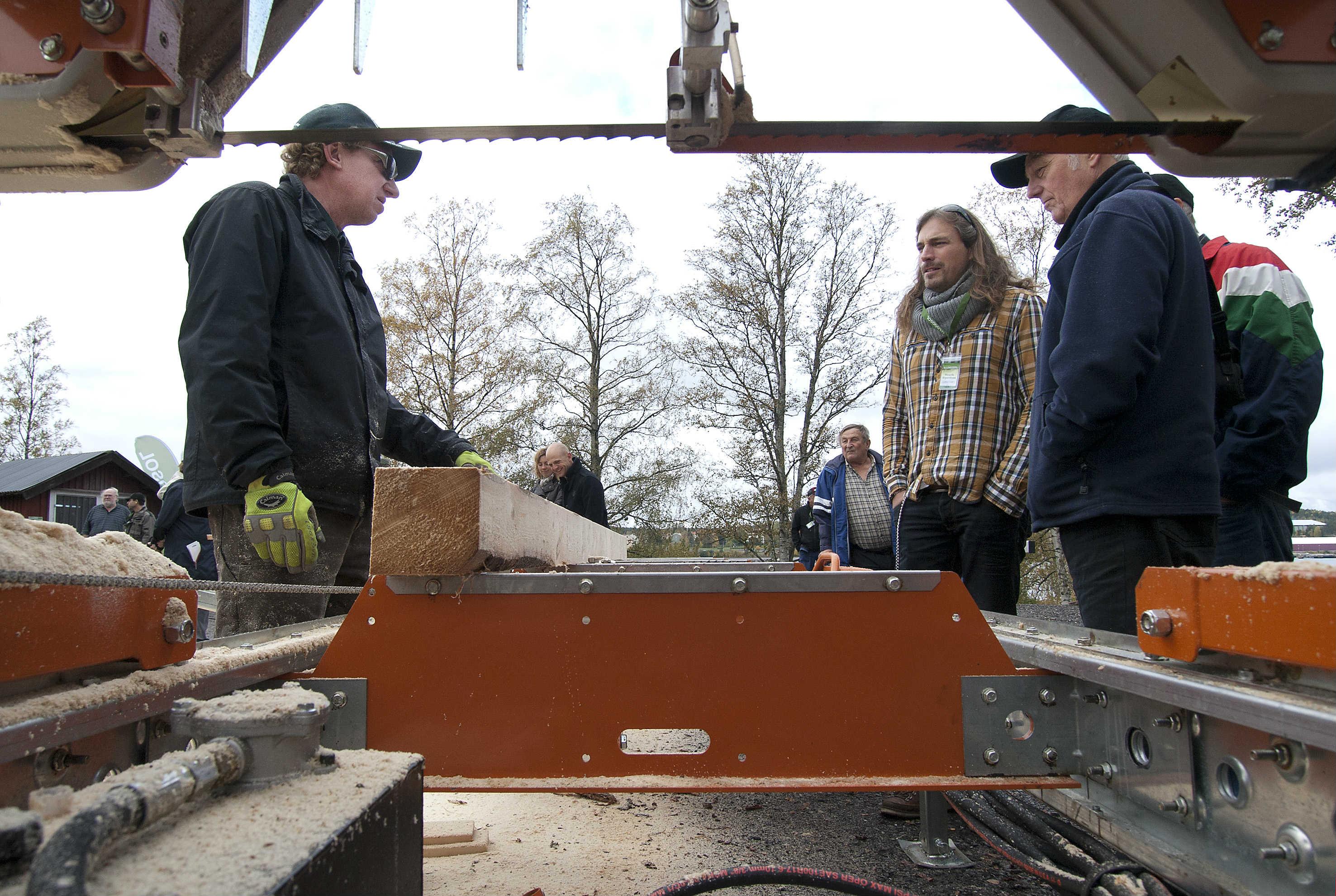 safety around a sawmill blade
