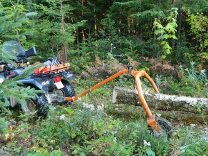 log skidding ATV