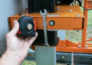 portable sawmill magnet trick