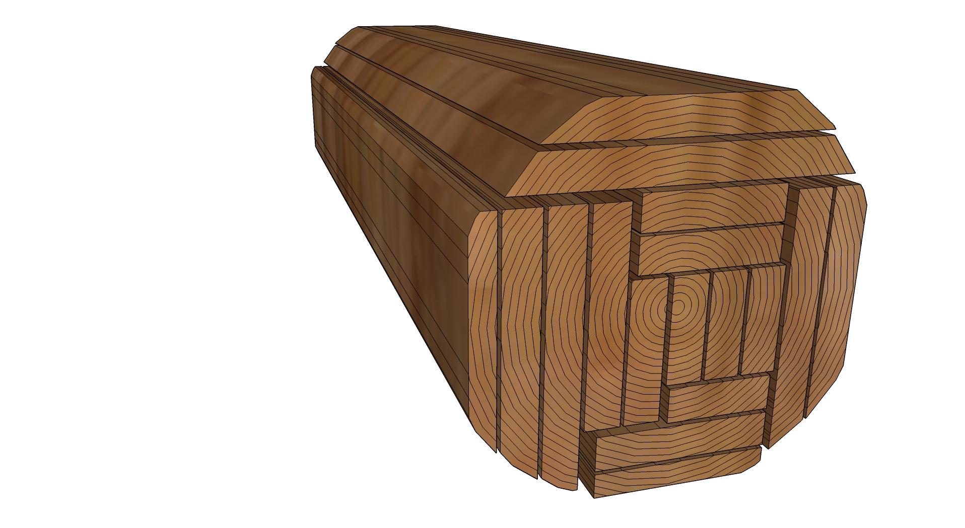 Log sawing patterns to meet customer needs trees money