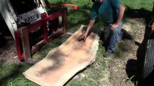 Slabbing Big Logs for Big Profits with Your Portable Band Sawmill
