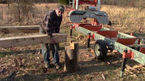 A Log Deck for Your Bandsaw Mill Will Save You Time — And Your Back