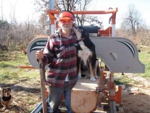 sawyer and dog
