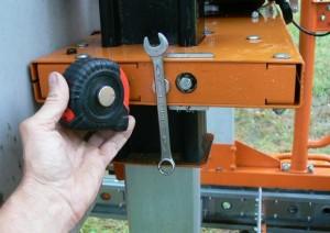 portable sawmill magnet trick