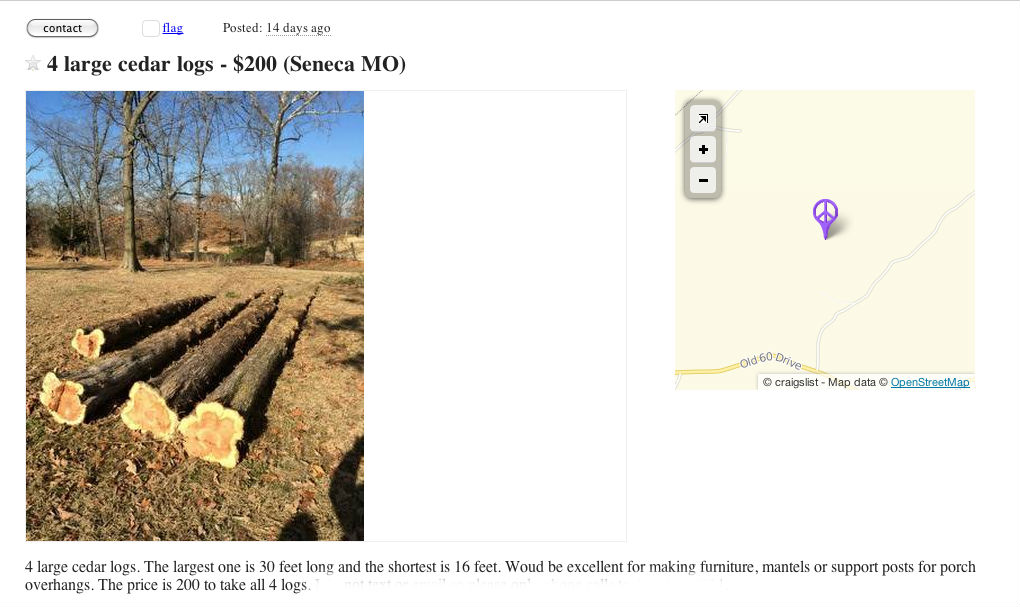 Craigslist Log Ad