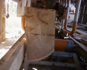 Quarter Sawed Log
