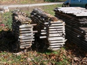 Stacked-Cedar-Logs