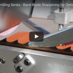 Sharpening a band blade