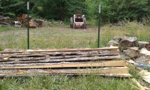 slabs of wood waste from your portable sawmill